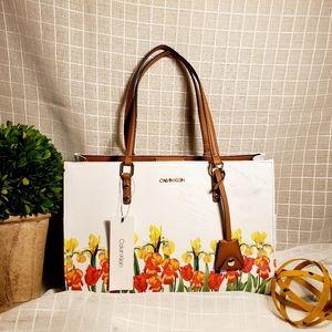 Calvin Klein Daffodil White/Brown Shoulder Bag